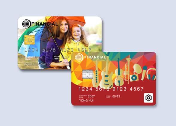 Datacard MX6100 card samples