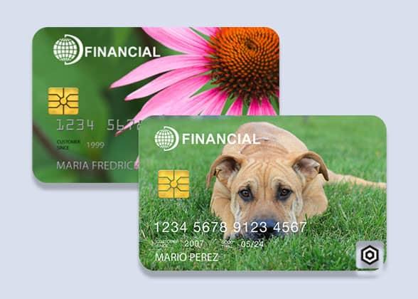Datacard MX8100 card samples