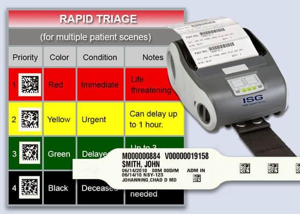 mobile triage disaster victim identifer system