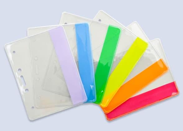 Color Bar ID Badge Holders