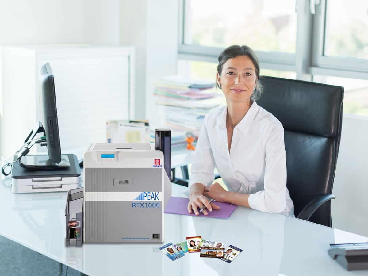 ISG PEAK retransfer ID card printers