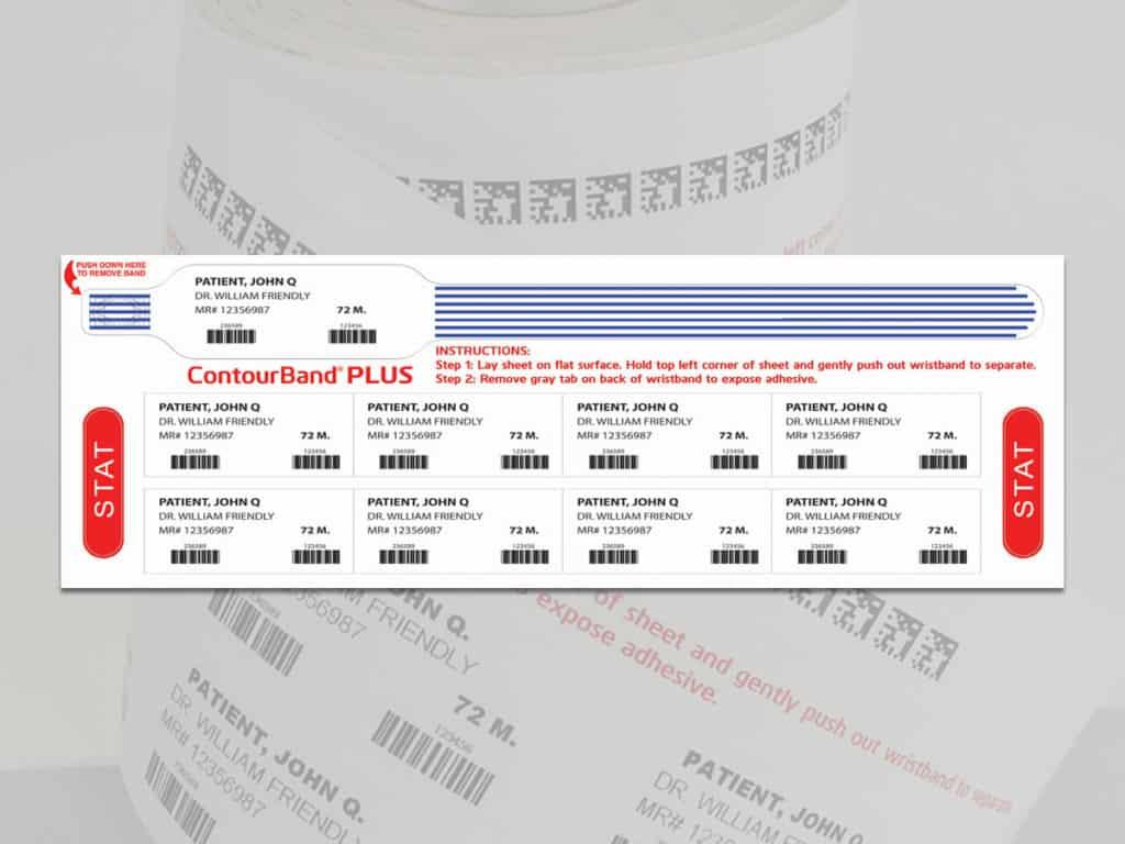 ContourBand Plus Patient Wristband & Labels