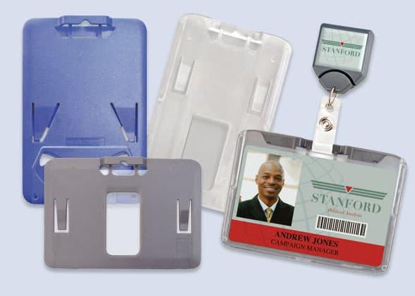 Rigid Plastic ID Badge Holders