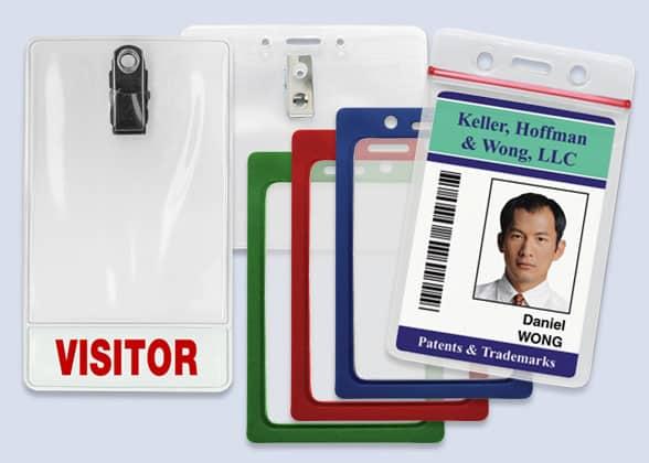 Vinyl ID Badge Holders